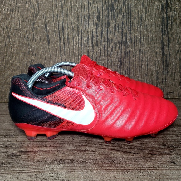 buy online 8aa7c 881b7 Nike Tiempo VII 7 FG Leather Soccer Cleats RED NWT